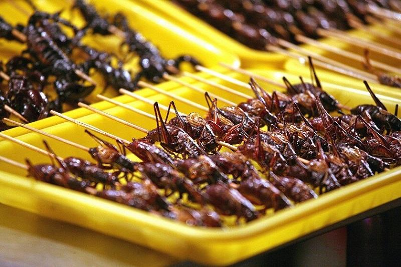 Шашлык из кузнечиков, Китай